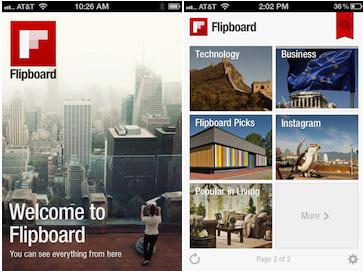 Flipboard op iphone