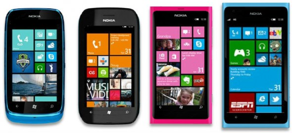 Nokia Lumia smartphones with Windows Phone 7.8